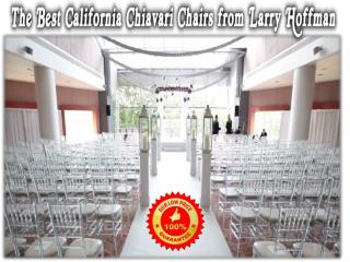 The Best California Chiavari Chairs from Larry Hoffman
