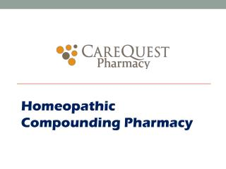 Homeopathic Compounding Pharmacy