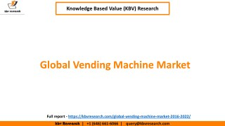 Global vending machine market size