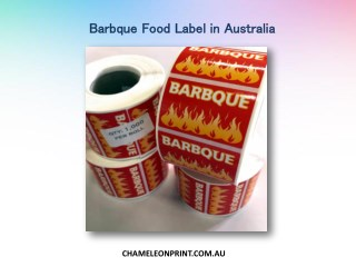 Barbque food label in Australia - Chameleon Print
