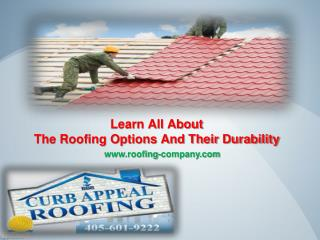 Learn All About The Roofing Options And Their Durability