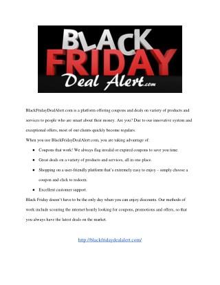 Black Friday Deal Alert