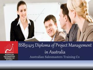 BSB51415 Diploma of Project Management in Australia