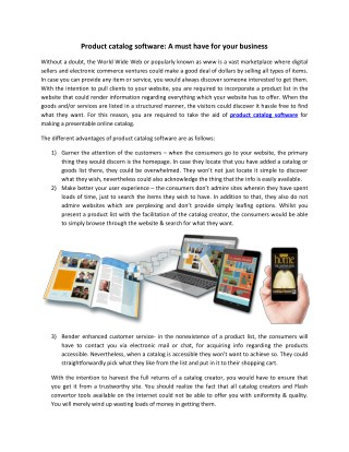 Product catalog software: A must have for your business