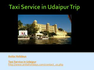 Taxi service in udaipur trip