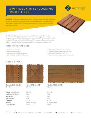 Swiftdeck Interlocking Wood Tiles