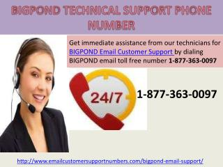 Bigpond Technical Support 1-877-363-0097 Customer Service Phone Number