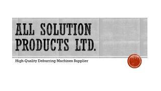 Deburring and chamfering machining