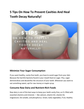 5 Tips On How To Prevent Cavities And Heal Tooth Decay Naturally!