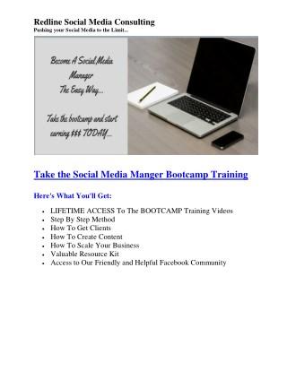 Social Media Manger Bootcamp Training