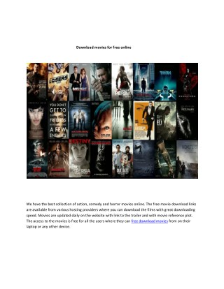 Download movies for free online