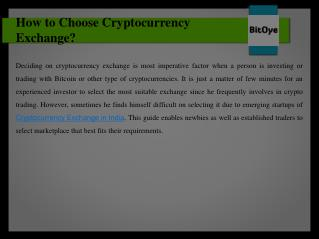 How to Choose Cryptocurrency Exchange?