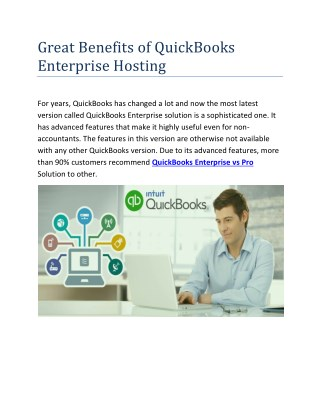 Great Benefits of QuickBooks Pro Hosting