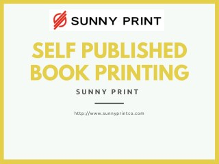 self published book printing