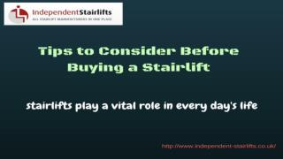 Tips to Consider Before Buying a Stairlift