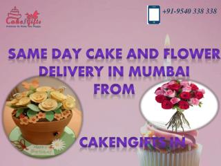 Order online Birthday cake and flower delivery in Mumbai