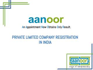 Company Registration in India   Private Limited Company Registration