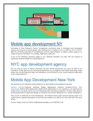 Mobile app development NY   NYC app development agency   Mobile App Development New York