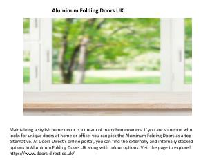 Aluminum Folding Doors UK