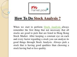 Stock Analysis Guide Step By Step