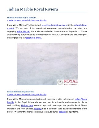 Indian Marble Royal Riviera