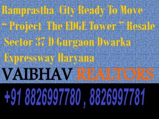 2,3 BHK Ready To Move Property In Ramprastha The Edge Tower Sector 37D Gurgaon VR