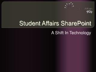 Student Affairs SharePoint