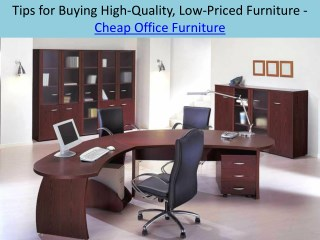 Tips for Buying High-Quality, Low-Priced Furniture