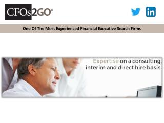 One Of The Most Experienced Financial Executive Search Firms