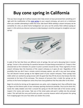 Buy cone spring in California
