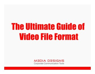The ultimate guide of video file format - Video Production