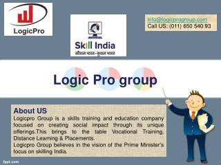 pmkvy training partner Center in Delhi - Logicprogroup.com