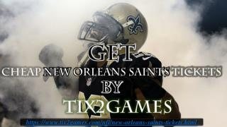 New Orleans Saints Tickets Discount Coupons