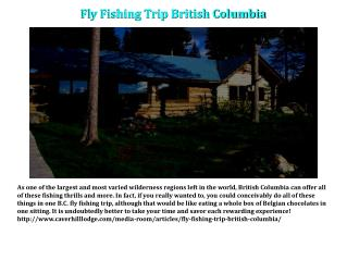 Fly Fishing Trip British Columbia