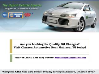 Ask Your Auto shop How Often Should You Get an Oil Change near Madison WI?