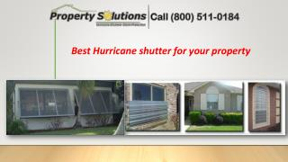 Best Hurricane shutter for your property
