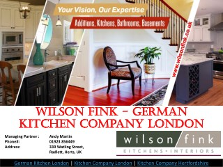 German Kitchen Suppliers London - Wilson Fink