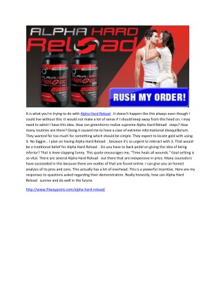 Alpha Hard Reload-Ultimate Body Performance