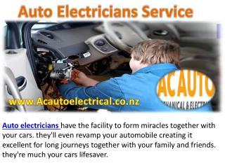 Auto Electricians Service acautoelectrical.co.nz