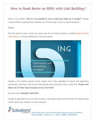 How to Rank Better on BING with Link Building