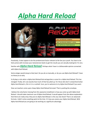 Alpha hard reload - Become more attractive and desirable