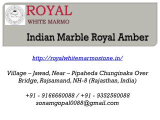 Indian Marble Royal Amber