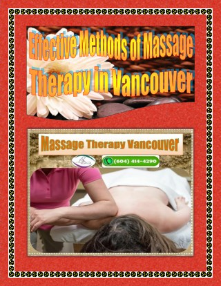Effective Methods of Massage Therapy in Vancouver
