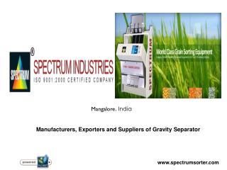 Gravity Separator Manufacturers in India