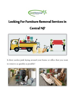 Looking For Furniture Removal Services In Central NJ?
