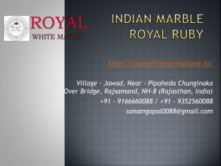 Indian Marble Royal Ruby