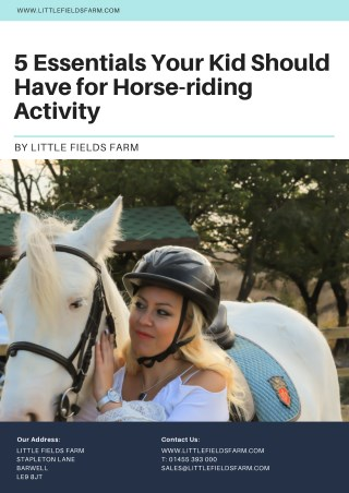 5 Essentials Your Kid Should Have for Horse-riding Activity