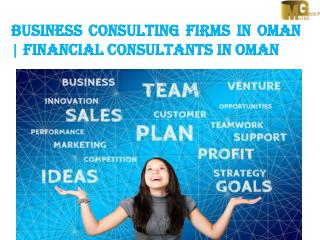 Business Consulting Firms in Oman  | Financial Consultants in Oman