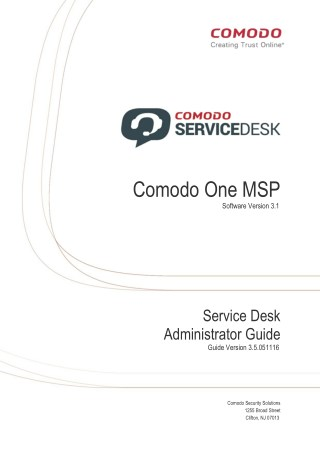 Service Desk Administrator Guide with Examples - Comodo One