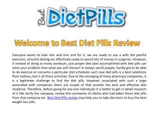 Best Diet Pills Review